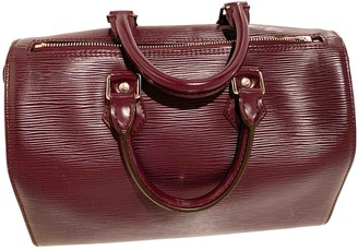 Louis Vuitton Speedy Burgundy Leather Handbags