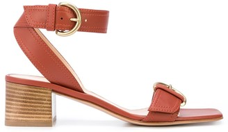 Gianvito Rossi Buckled Mid-Heel Sandals