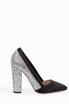 Giambattista Valli Glitter Block Heel Pumps