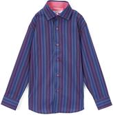 Isaac Mizrahi Navy Zig-Zag Premium Button-Up - Toddler & Boys