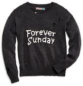 Vintage Havana Girls' Forever Sunday Distressed Sweater - Big Kid