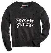 Vintage Havana Girls' Forever Sunday Distressed Sweater - Sizes S-XL