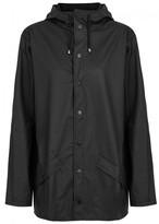 Rains Black Rubberised Raincoat
