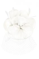Quiz Cream Flower Net Fascinator