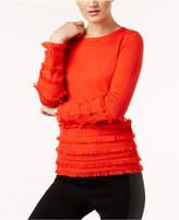 Trina Turk Sass Fringe-Trim Sweater