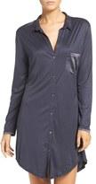 Hanro Women's 'Grand Central' Modal & Silk Sleep Shirt