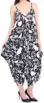 R KON Women's Cami Jumpsuit Lagenlook Romper Baggy Harem Playsuit Dress ML