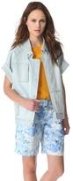 Tibi Vintage Wash Boxy Jacket