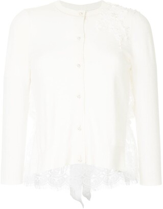 Onefifteen Floral Lace Patch Buttoned Cardigan