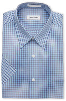 Pierre Cardin Short Sleeved Easy Care Plaid Dress Shirt