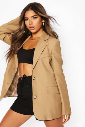 boohoo Petite Premium Woven Blazer