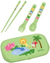 green sprouts by i play. On Safari Utensil Set - Green - 4 pk
