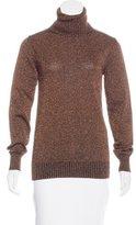 Dolce & Gabbana Metallic Turtleneck Sweater