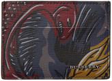 Burberry Navy 'Burberry Beasts' Card Holder