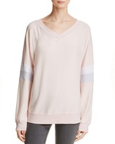 Wildfox Couture Striped-Sleeve Pullover