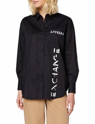 Armani Exchange Women's Stretch Poplin Blouse