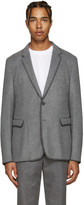 Wooyoungmi Grey Blanket Stitch Blazer