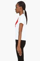 Comme des Garcons White Large Red Emblem T-Shirt