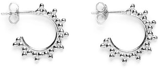 Agnes de Verneuil Mini Hoops Earrings With Pearls - Silver
