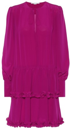 Stella McCartney Long-sleeved silk minidress