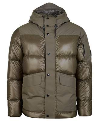 C.P. Company Quilted Arm Lens Heavy Hooded Jacket Colour: OLIVE, Size: