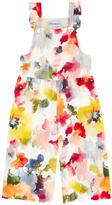 Simonetta Printed crepe overalls