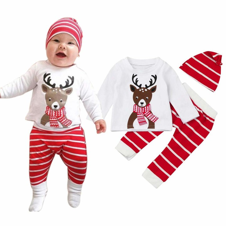 Thumbnail for your product : Deloito  Baby Clothes Set Deloito 3Pcs My First Christmas Clothing Sets