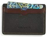 Trask Men's 'Jackson' Norwegian Elk Leather Card Case - Black