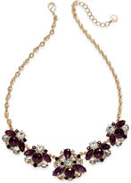 Charter Club Gold-Tone Crystal Cluster Statement Necklace, Only at Macy's