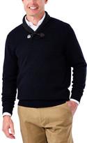 Haggar Contrast Shawl Collar with Toggle Sweater -