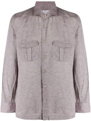 Mazzarelli Button-Up Chest Pocket Shirt
