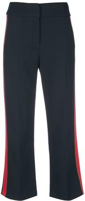 Veronica Beard Side Stripe Crop Trousers