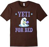 Men's CUTE YETI FOR BED T-SHIRT Pajamas Night Time Gift XL