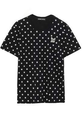 Markus Lupfer Anna Appliqued Printed Cotton-jersey T-shirt