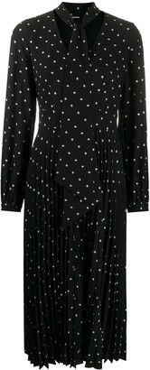 Equipment Polka Dot Print Midi Dress