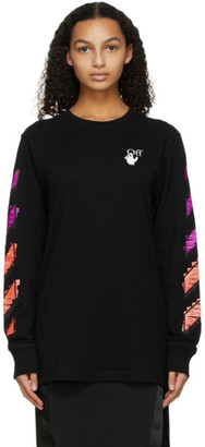 Off-White Black Marker Long Sleeve T-Shirt