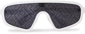 Fendi Aviator-Style Acetate Logo-Print Sunglasses