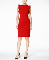 Calvin Klein Ruffled U-Back Sheath Dress