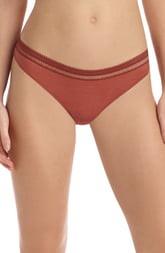 Commando Lace Trim Thong Panty