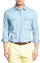 Cutter & Buck Men's 'Equinox' Regular Fit Denim Sport Shirt