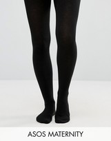 Asos Supersoft Tights With Supportive Panel