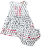 Juicy Couture Infant Girls) Two-Piece Embroidered Printed Dress & Bloomers Set