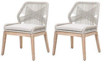 One Kings Lane Set of 2 Easton Rope Side Chairs - Taupe/Pumice