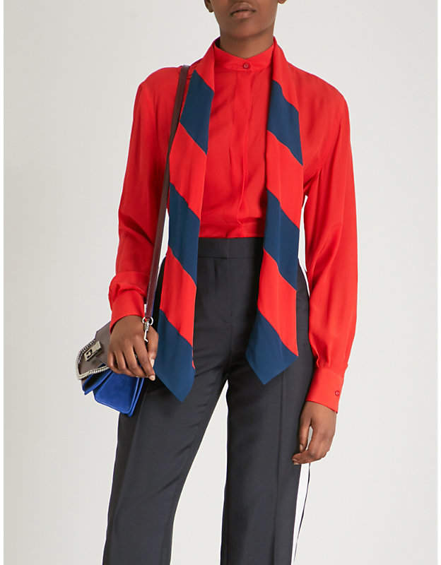 Givenchy Striped silk-crepe shirt