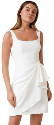 Forever New Kaitlyn Square Neck Drape Mini Dress