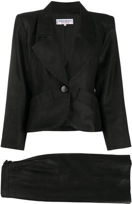 Yves Saint Laurent Pre Owned Slim-Fit Skirt Suit