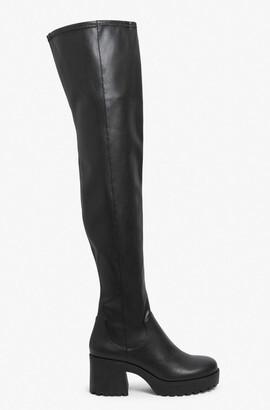 Monki Thigh-high platform boots