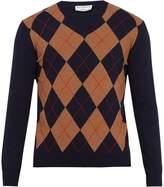 ÉDITIONS M.R Argyle merino wool sweater