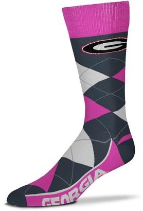 For Bare Feet Georgia Bulldogs Line Up Argyle Melange Socks