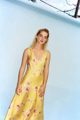 Urban Outfitters Swept Away Floral Midi Slip Dress